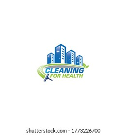 Cleaning for health logo concept
