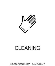 Cleaning icon. Single high quality outline symbol for web design or mobile app. Thin line sign for design logo. Black outline pictogram on white background