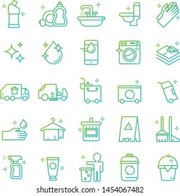Cleaning icons pack. Isolated cleaning symbols collection. Graphic icons element