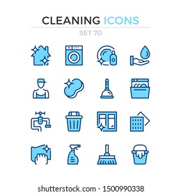 Cleaning icons. Vector line icons set. Premium quality. Simple thin line design. Modern outline symbols collection, pictograms.