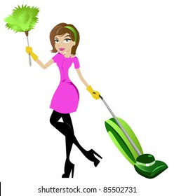 cleaning lady images stock photos vectors shutterstock rh shutterstock com cartoon cleaning lady clipart cleaning lady clip art images