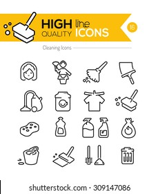 Cleaning Line Icons Series