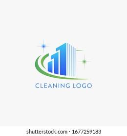 Cleaning logo design. Vector illustration.