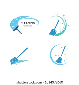 Cleaning logo ilustration vector template