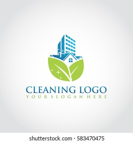 Cleaning Logo Template. Vector Illustrator Eps.10