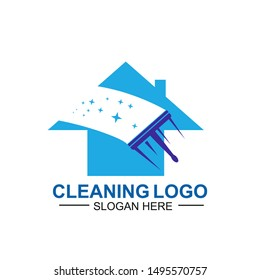 Cleaning And Maintenance Logo Template. cleaning apartments and offices.