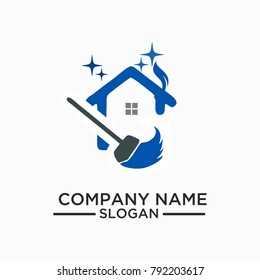 Cleaning And Maintenance Logo Template, Cleaning icon. Single high quality outline symbol for web design or mobile app. Thin line sign for design logo. Black outline pictogram on white background