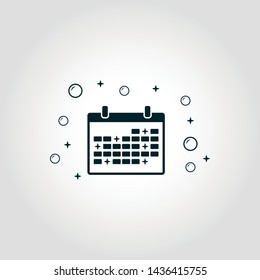 Cleaning Schedule icon. Monochrome style design from cleaning icons collection. Symbol of cleaning schedule isolated icon