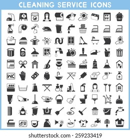 cleaning service icons set, hygiene icons