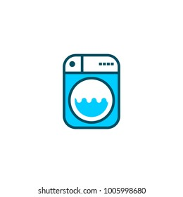 Cleaning Service or Laundry Logo Concept.