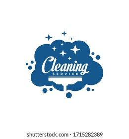 Cleaning Service lettering logo vector. Typography logo. Creative cleaning logo template design.