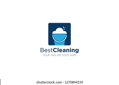 cleaning service logo and clean icon vector design template