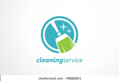 Cleaning service logo. Maintenance the office sign. Symbol for cleaning the living space. Free marketing ideas for small business maintenance.