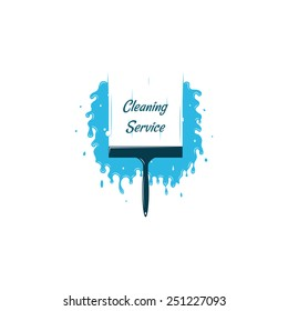 Cleaning service logo template. Vector logo template.