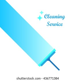 Cleaning service logo, vector illustration