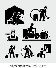 Cleaning service man vector