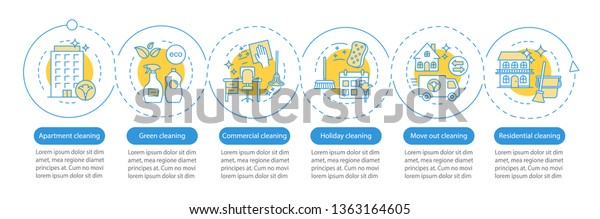 Cleaning Services Vector Infographic Template Apartment ...