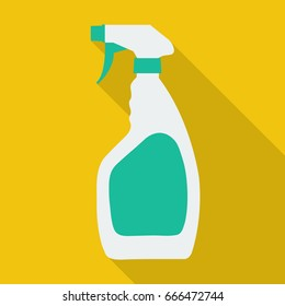 Cleaning spray bottle flat icon. You can be used centipede icon for several purposes like: websites, UI, UX, print templates, promotional materials, info-graphics, web and mobile phone apps.