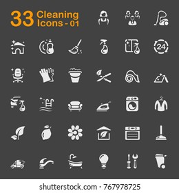 Cleaning vector icons for mobile phone interface, web and applications.
