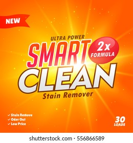 cleaning and washing detergent packaging design template