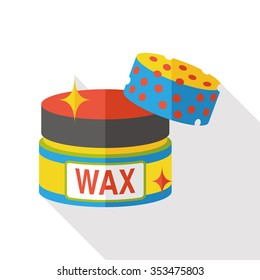 cleaning wax flat icon