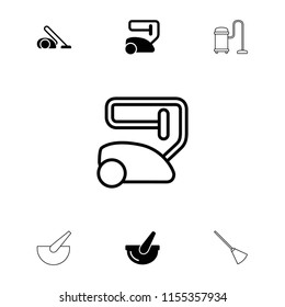 Cleanup icon. collection of 7 cleanup filled and outline icons such as vacuum cleaner, bucket. editable cleanup icons for web and mobile.