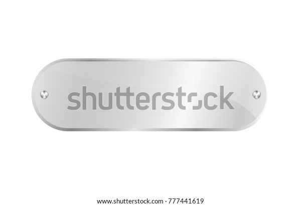Clear Acrylic Signboard Isolated Icon Glassy Stock Vector