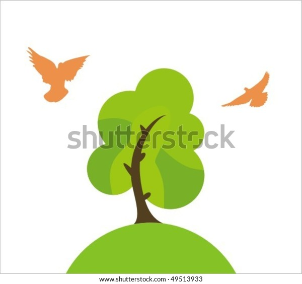 Clear Background Tree Stock Vector Royalty Free 49513933 This illustrated collection of 100 free cartoon background vectors contains plenty of nature sceneries, urban landscapes, city skylines and street views. shutterstock