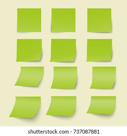 Clear green papers -  vector background