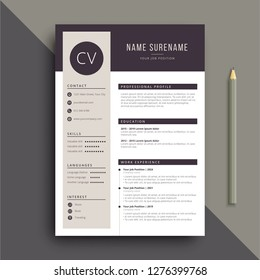 clear and modern professional resume CV template