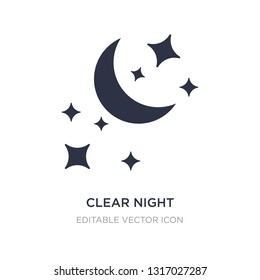 clear night icon on white background. Simple element illustration from Shapes concept. clear night icon symbol design.