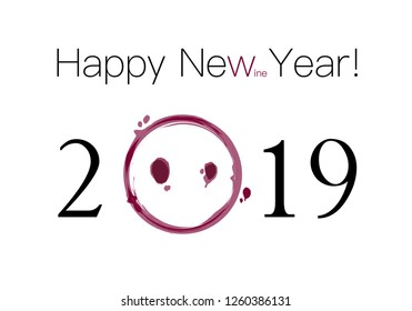 Clear and simple vector template of a Happy New Year 2019