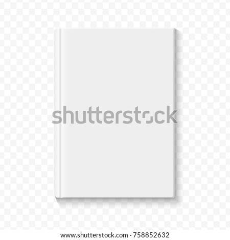 clear white blank book cover template stock vector royalty free