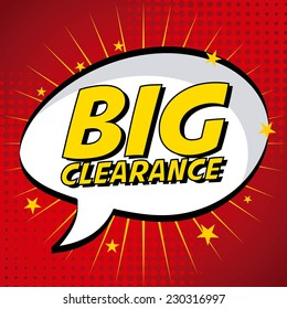 clearance graphic design , vector illustration