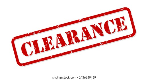 Clearance red rubber stamp vector isolated