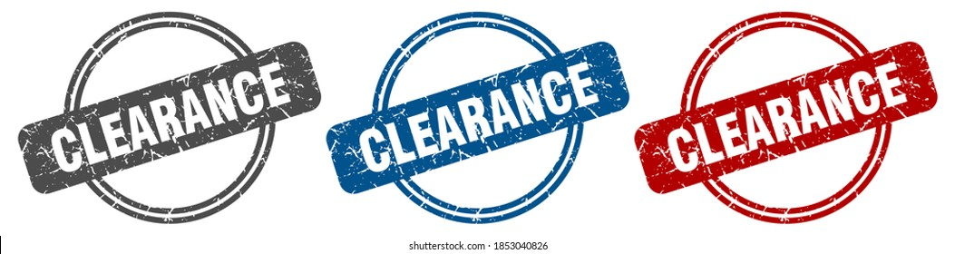 clearance round isolated label sign. clearance stamp