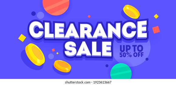 Clearance sale banner design. Marketing poster template, shopping day, discount holiday deal. Promotion vector