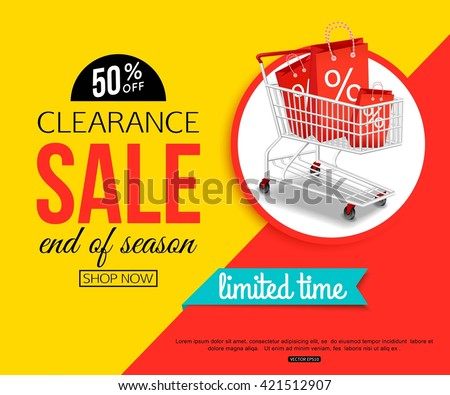 clearance sale banner shop online store のベクター画像素材