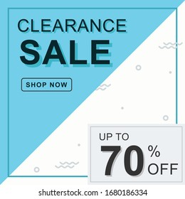 Clearance Sale banner. You use the banner,  Ads, Social Media & web blogs.