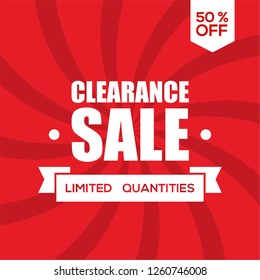 clearance sale design, big sale, end of year sale design template