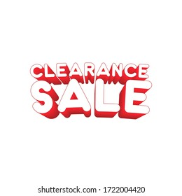 Clearance Sale Red Text And Background