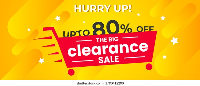 The Clearance Sale Web Banner Shopping Offers Label Vector