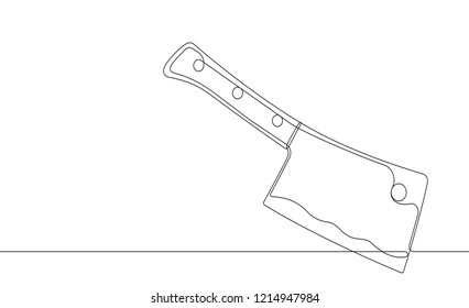 Cleaver Continuous Vector Line Graphic