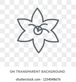 Clematis icon. Trendy flat vector Clematis icon on transparent background from nature collection. High quality filled Clematis symbol use for web and mobile