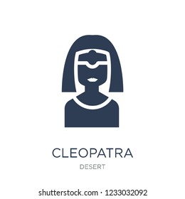 Cleopatra icon. Trendy flat vector Cleopatra icon on white background from Desert collection, vector illustration can be use for web and mobile, eps10
