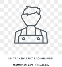 Clerk icon. Trendy flat vector Clerk icon on transparent background from Professions collection. High quality filled Clerk symbol use for web and mobile