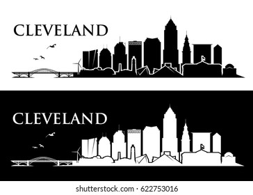 Cleveland skyline - Ohio - vector illustration