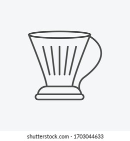 Clever coffee dripper icon isolated on background. Coffeemaker symbol modern, simple, vector, icon for website design, mobile app, ui. Vector Illustration