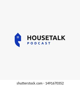 clever and smart logo that combine house and apostrophe symbol for house talk logo inspiration