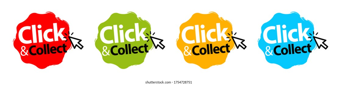 Click an collect with computer mouse pointer on stamp